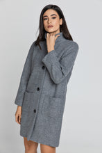 Load image into Gallery viewer, Wool Blend Grey Coat by Conquista Fashion