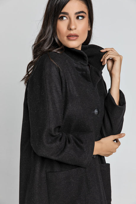 Black Blend  Coat by Conquista