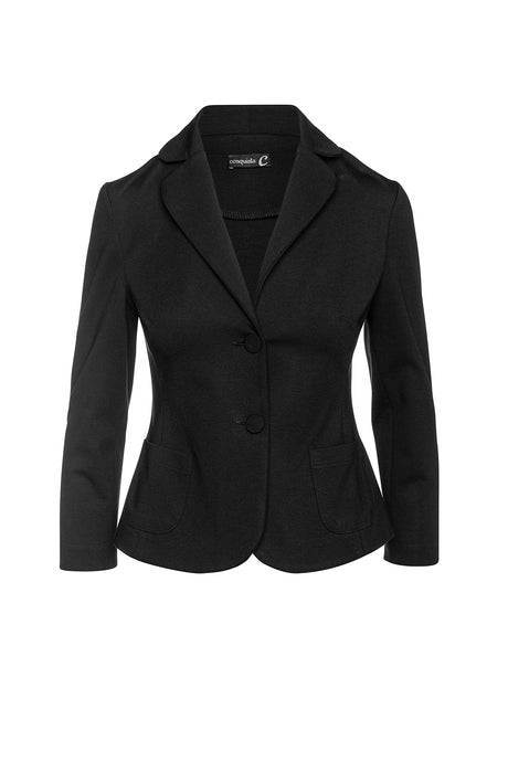 Black Punto di Roma Fitted Jacket