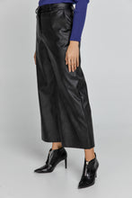 Load image into Gallery viewer, Black Faux Leather Culottes by Conquista Fashion