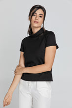 Load image into Gallery viewer, Short Sleeve Black Top in Black