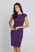 Load image into Gallery viewer, Fitted Mauve Dress with Cap Sleeves