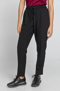 Black Crepe Pants by Conquista