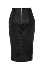 Load image into Gallery viewer, Black Pencil Skirt by Conquista Fashion