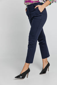Dark Blue Gabardine Pants