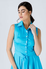 Load image into Gallery viewer, Turquoise Button Detail  Dress