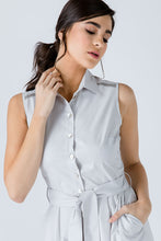 Load image into Gallery viewer, Grey Button Detail Dress