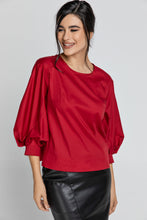 Load image into Gallery viewer, Burgundy Top with Bishop Sleeves