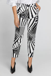 Black & White Gabardine Pants