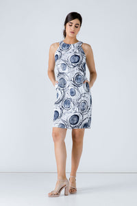 Print Sleeveless Sack Dress