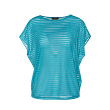 Load image into Gallery viewer, Turquoise Semi Sheer Top