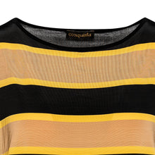 Load image into Gallery viewer, Striped Sleeveless Top  in Stretch Jersey Fabric