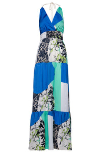 Maxi Empire Line Patchwork Dress by Conquista Fashion