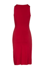 Load image into Gallery viewer, Wrap Style Sleeveless Dress in Red