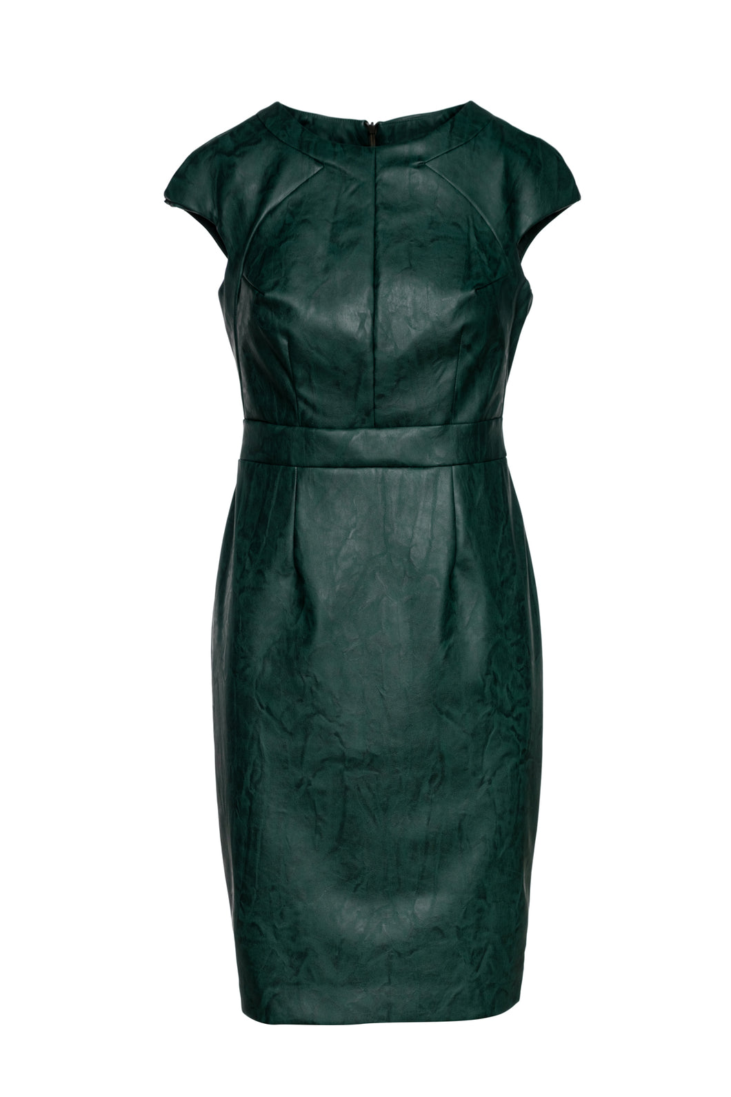 Green Faux Leather Dress