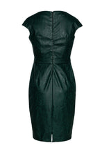 Load image into Gallery viewer, Green Faux Leather Dress