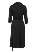 Load image into Gallery viewer, Black Empire Line Dress with Belt