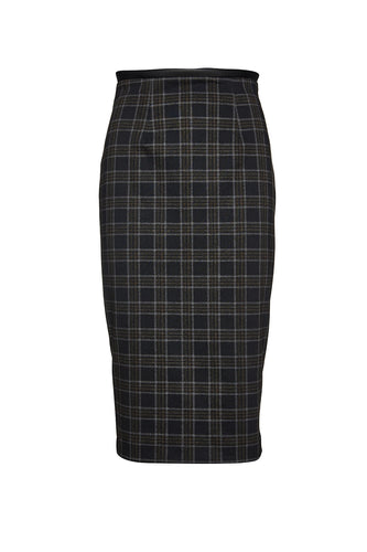 Check Punto di Roma Pencil Skirt