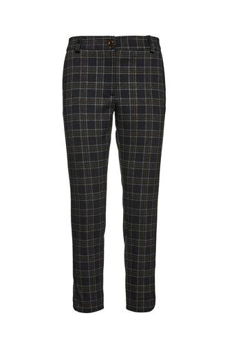7/8 Length Check Punto di Roma Crop Pants
