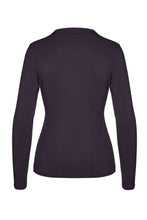 Load image into Gallery viewer, Ink Long Sleeve Faux Wrap Top in Stretch Jersey Sustainable Fabric