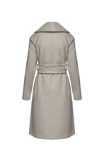 Load image into Gallery viewer, Long Sand Colour Mélange Mouflon Coat with Belt