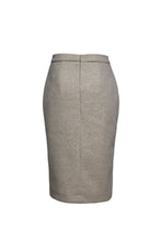 Load image into Gallery viewer, Sand Colour Mouflon Pencil Skirt