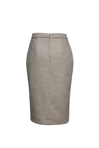 Sand Colour Mouflon Pencil Skirt