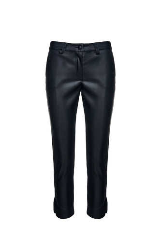 Black Faux Leather 7/8 Pants