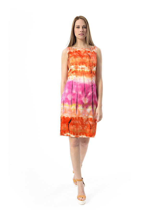 Fitted Straight Print Dress