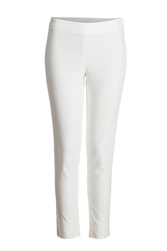 Fitted Stretch Trousers White