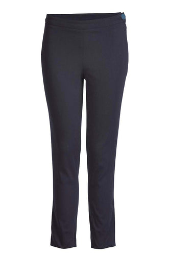 Fitted Stretch Trousers Navy