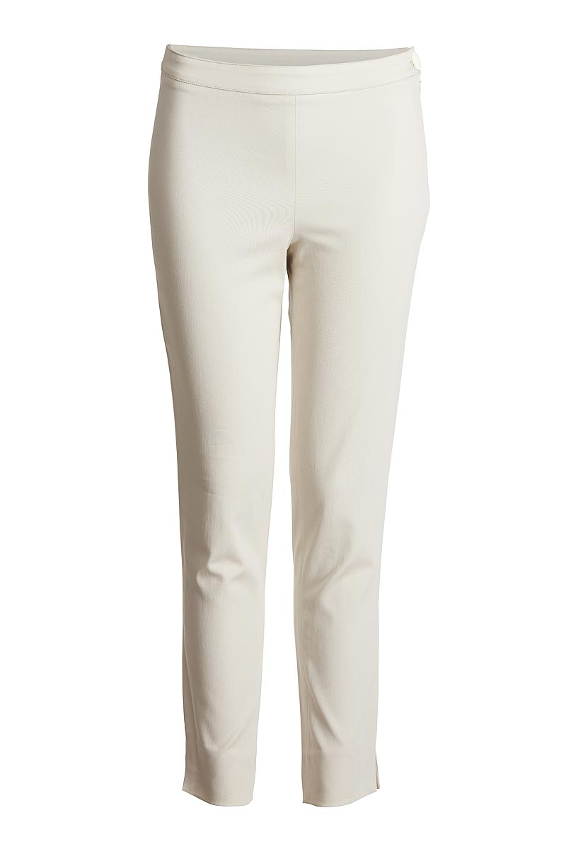 Fitted Stretch Trousers in Sand