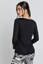 Load image into Gallery viewer, Black V Neck Top by SWL