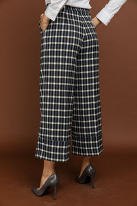 Blue Check Culottes by Si Fashion