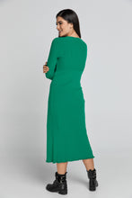 Load image into Gallery viewer, Long Green Knit Cardigan