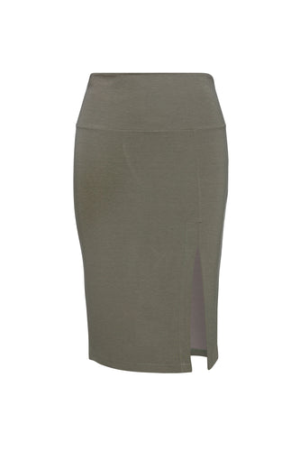 Slit Stretch Midi Skirt