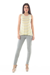 Racer back Striped Top