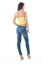 Load image into Gallery viewer, Lace Bandeau Yellow