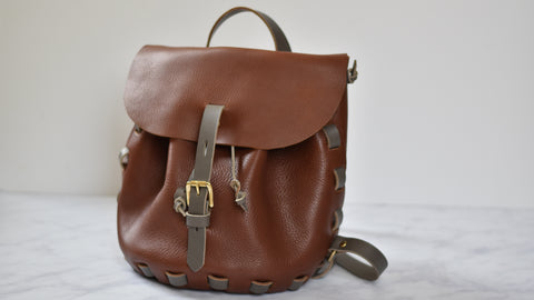 LEATHER NEEDLE THREAD contrast stitchless backpack kit