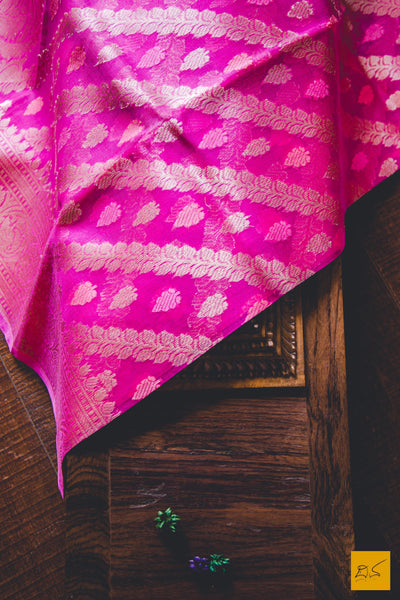 A lovely pink banarasi kora silk organza saree. New trend of kota silk Saree designs, Saree for artists, art lovers, architects, saree lovers, Saree connoisseurs, musicians, dancers, doctors, kota silk saree, indian saree images, latest sarees with price, only saree images, new kota silk saree design.