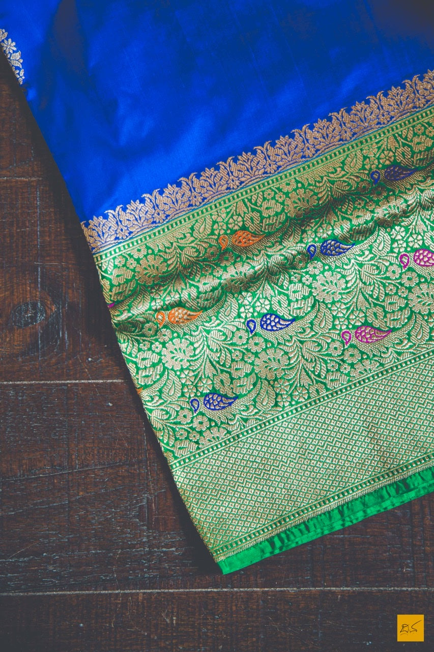 A wonderful banarasi katan silk handwoven sari with classic kadhwa buttas crafted in this finest weave style of kadhiyal meenakari. New trend of Banarasi Saree designs, Banarasi Saree for artists, art lovers, architects, saree lovers, Saree connoisseurs, musicians, dancers, doctors, Banarasi silk saree, indian saree images, latest sarees with price, only saree images, new Banarasi saree design.