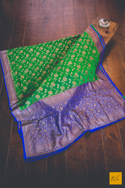 This is a wonderful banarasi georgette sari with a green body. New trend of Banarasi Saree designs, Banarasi Saree for artists, art lovers, architects, saree lovers, Saree connoisseurs, musicians, dancers, doctors, Banarasi Katan silk saree, indian saree images, latest sarees with price, only saree images, new Banarasi saree design.