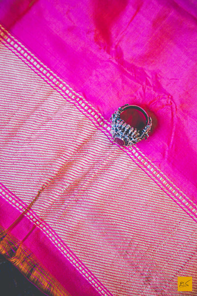 This wonderful Banarasi Katan Silk handwoven Saree with a Cream-Pink body. New trend of Banarasi Saree designs, Banarasi Saree for artists, art lovers, architects, saree lovers, Saree connoisseurs, musicians, dancers, doctors, Banarasi silk saree, indian saree images, latest sarees with price, only saree images, new Banarasi saree design.