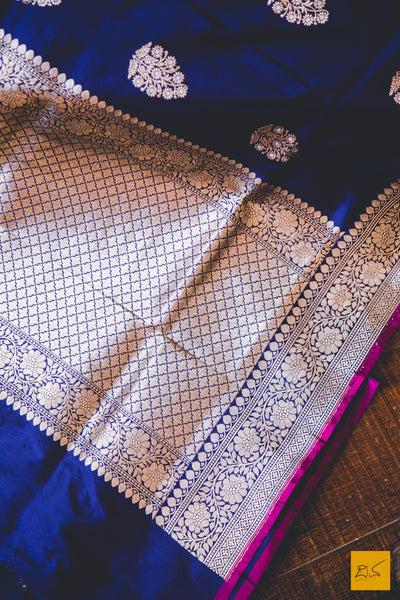 This is a beautiful banarasi katan silk handwoven saree with kadhwa sonarupa buttas. New trend of Banarasi designs, Banarasi for artists, art lovers, architects, saree lovers, saree connoisseurs, musicians, dancers, doctors, Banarasi Katan silk saree, indian saree images, latest saree with price, only saree images, new Banarasi saree design.