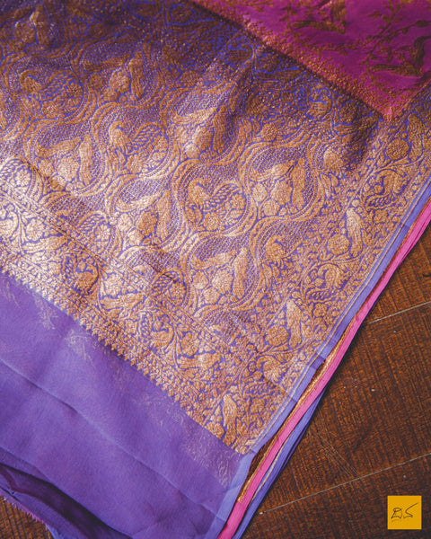 This is a wonderful georgette banarasi saree with animal motifs. New trend of Banarasi saree designs, Banarasi saree for artists, art lovers, architects, saree lovers, saree connoisseurs, musicians, dancers, doctors, Banarasi Katan silk saree, indian saree images, latest sarees with price, only saree images, new Banarasi saree design.