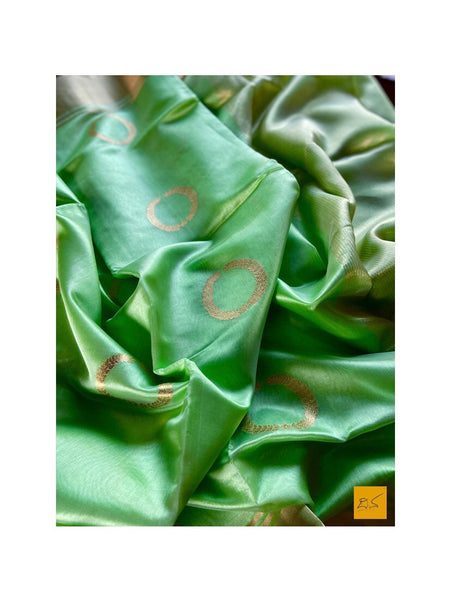 GREEN chanderi silk handwoven saree for cocktail party, informal , formal, latest design 2020, sarees designs, new trend sarees, indian sarees