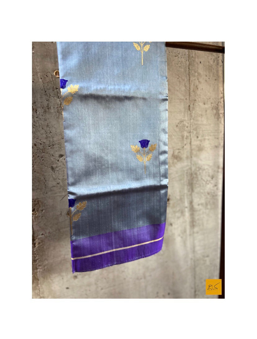 GREY chanderi silk handwoven saree for cocktail party, informal , formal, latest design 2020, sarees designs, new trend sarees, indian sarees