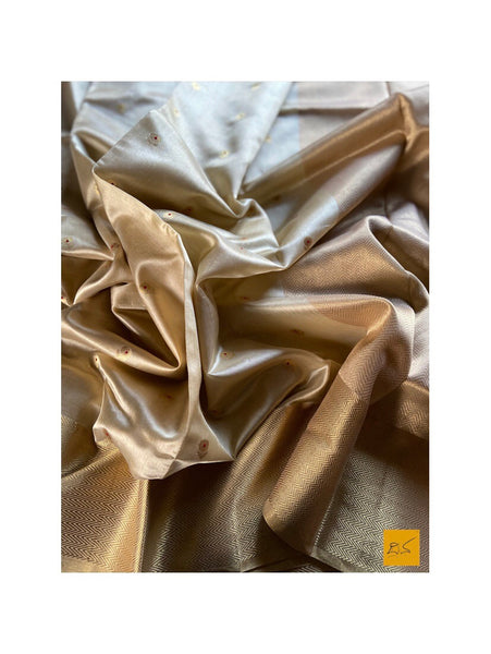 BEIGE chanderi silk handwoven saree for cocktail party, informal , formal, latest design 2020, sarees designs, new trend sarees, indian sarees
