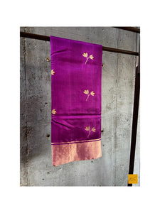PURPLE-PINK chanderi silk handwoven saree for cocktail party, informal , formal, latest design 2020, sarees designs, new trend sarees, indian sarees