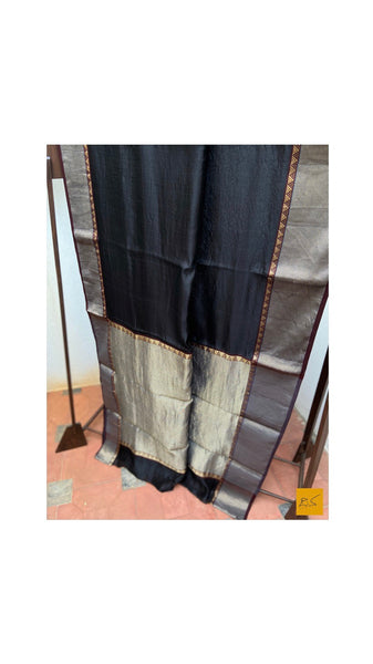 BLACK chanderi silk handwoven saree for cocktail party, informal , formal, latest design 2020, sarees designs, new trend sarees, indian sarees